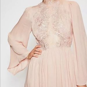 Free People Divine Lace-Trim Mini Dress Size 6